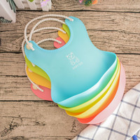 neue babyschürzen großhandel-KANNERT Wasserdichte Schürzen Baby Lätzchen Neues Design Baby Lätzchen Wasserdichte Silikon Fütterung Speichel Handtuch Schürze