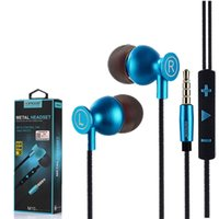 Wholesale wired cameras - M10 Earphone Earphones Headphones Earbuds Headset For iPhone Samsung Phone In Ear wired With Mic Volume Camera Control 3.5mm With Retail Box