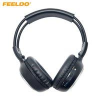 arabalar için müzik dvd'leri toptan satış-FEELDO Araba DVD Stereo 2 Çift Kanal Ses IR Kızılötesi Kablosuz Müzik Katlanabilir Kulaklık Kulaklık # HQ2447