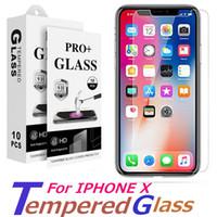 película anti shatter iphone al por mayor-Para iPhone X 8plus 7 más Protector de pantalla de cristal templado para Huawei P20 Pro Edition Film 0.33mm 2.5D 9H Paquete de papel antivibraciones