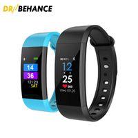 Wholesale Lcd Bracelet Watch - 60X I9 Smart Wristbands fitbit fitness tracker 0.96 inch LCD Screen smart Bracelet Watch Heart Rate Blood Pressure Monitor DHL