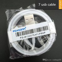 Wholesale usb chips - 100Pcs  100% Genuine Original 1m 3ft E75 Chip OD:3.0mm Data USB charger Cable for Foxconn 6 6s 7 8 plus With retail packaging