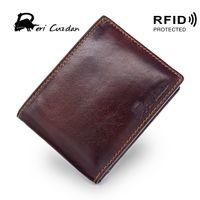 Wholesale block standard - DERI CUZDAN RFID Wallet Vintage Mens Short Wallet Leather Genuine Double Photo Holder Rfid Blocking Slim Leather Dollar