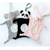 Wholesale Soft Toys Heart - Newborn Blankie Soothing Towel Of Baby Toys Animal Shape Multifunctional Gift Soft Mouth Water Towels Kids Plush Toy 7 5yt W
