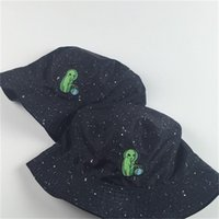 f941b5896133b Two Side Reversible Alien Bucket Hat Unisex Fashion Bob Caps Hip Hop Gorros  Women Summer Beach Sun Fishing Bucket Hats 14lq aa