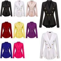 ingrosso si adatta al rivestimento peplum-Abbigliamento donna Capispalla Cappotti Giacche Donna Crop Shift Slim Fit Peplum Blazer Jacket Coat Tute