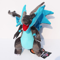 brinquedo do macaco do amor venda por atacado-25 cm Kawaii XY Mega Charizard Brinquedo de Pelúcia Boneca Com Presente de Aniversário Tag