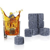 Wholesale whisky accessories resale online - Natural Whiskey Stones Ice wine stone Whisky Rock Cooler Christmas Wedding Party Bar Drinking Accessories T3I0062