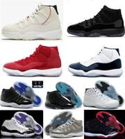 erkekler için serin basketbol ayakkabıları toptan satış-11 Spor Kırmızı Platin Ton Basketbol Ayakkabıları Balo Gece Concord Uzay Reçel Reçelleri Efsane Gamma Mavi 11 s Serin Gri Bred Erkekler Kap ve Kıyafeti Sneakers