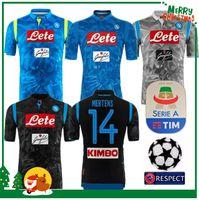 bb1aea43b5 2018 2019 Serie A Nápoles New Napoli camisas de futebol em casa Napoli azul  camisas de futebol Camisa para homens 18 19 HAMSIK L.INSIGNE PLAYER Camisa