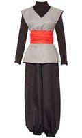siyah ejderha kostümü toptan satış-Dragon Ball Cosplay Cadılar Bayramı Kostüm erkek Üniforma Elbise Kıyafet Son Goku Siyah Zamasu Kai Kostüm