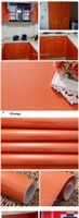 Wholesale Furniture Film - New Paint Self Adhesive Vinyl Wall Stickers Kitchen Cupboard Waterproof Stickers Furniture Wardrobe Decorative Film Home Decor