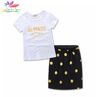 Wholesale mom girl matching clothes for sale - Group buy Belababy New Family Matching Outfits Mom Girls Cotton Letters T shirts Polka Dots Skirts Kids Clothes Family Match Suits