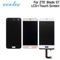 exibição do zte lcd venda por atacado-substituição ocolor Bom para S7 Display LCD + Touch Screen substituição Assembléia digitador para ZTE Lâmina S7 Tools +