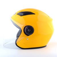ingrosso caschi gialli motociclistici a faccia aperta-Casco Moto Nuoman Lens Casco Moto Open Full Moto Moto Racing Off Road 6 colore giallo