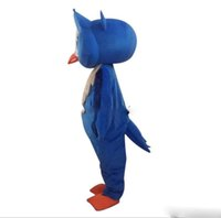 Wholesale owl fancy costume online - Blue Owl Mascot Costume mascot costumes for adults christmas Halloween Outfit Fancy Dress Suit