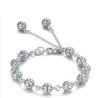taobao coreano venda por atacado-Perfurado requintado bola pulseira de prata jóias por atacado uma variedade de modelos explosão Taobao lote misto de jóias popular coreano