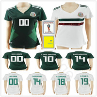 Wholesale mexico women home jersey for sale - Group buy 2018 Women Mexico Soccer Jerseys Home Away G DOS SANTOS CHICHARITO GUARDADO PERALTA AGUILAR Ladies Girls Football Shirts