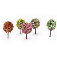 ingrosso alberi da giardino in miniatura-5pcs / set artificiale albero rosa salice micro paesaggio decorazione giardino simulazione piante in miniatura decorazione della casa 2.3 * 3.6 cm