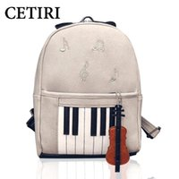 Wholesale piano bags - Music Backpacks Piano Musical Violin Printing Backpack For Teenage Girls Bookbag Students School music center note bag