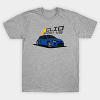 Wholesale renault man online - Renault Clio V6 Blue T Shirt