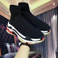 Wholesale Women S Fashion Socks - Paris 18ss Triple-S Sneaker Colorful Lover's Shoes Fashion Running Shoes Men Women Outdoors Casual Lazy Network Socks Shoes 35-45 do006