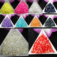10000pcs bag SS12 3mm 10 Color Jelly AB Resin Crystal Rhinestones FlatBack Super Glitter Nail Art Strass Wedding Decoration Beads Non HotFix
