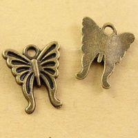ingrosso fascino animale del telefono mobile-A2433 16 * 15MM Bronzo Antico Vintage Retro fascino farfalla perline accessori di telefonia mobile, gioielli a forma di animale, pendente animale