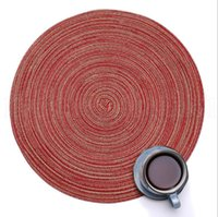 Wholesale decorative coasters resale online - Kitchen Table Mats cm Cotton Yarn Round Table Napkin Drink Coasters Tableware Mats Pads Decorative Placemats OOA5411