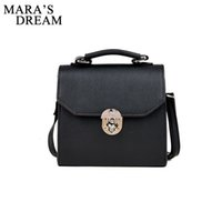 Wholesale dream locks for sale - Group buy Mara s Dream PU Leather Women Handbag Vintage Women Messenger Bag Fashion Lock Female Shoulder Bag Flap Sac A Main