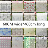Wholesale bathroom glazing - 60cmX400cm Transparent opaque glazed paper frosted glass stickers window film bathroom shade windows painted cellophane