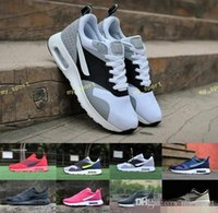 Wholesale men news - 2018 Best quality Tavas thea 87 Running Shoes for men's outdoor sneakers black grey red blue mans fashion news Cushion athletic shoes