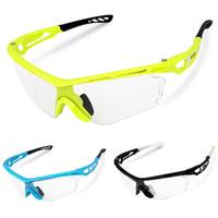 óculos de bicicleta claro venda por atacado-Unisex Óculos de Equitação Da Bicicleta À Prova de Vento Limpar Photochromic Ciclismo Óculos Óculos Óculos de Proteção Óculos De Sol Da Bicicleta Óculos de Proteção