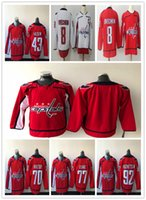 Wholesale cheap hockey jerseys washington - Men's Washington Capitals Hockey Jerseys 8 Alexander Ovechkin 70 Braden Holtby 77 T.J. Oshie 92 Evgeny Kuznetsov Cheap Freeshipping