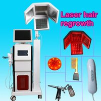 Wholesale Led Hair Laser - 2018 latest Laser Hair Regrowth Growth LED Light Comb Brush Anti Hair Loss Therapy diode laser machine