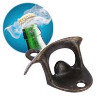 weinflasche korkenzieher begünstigt groihandel-Öffnen Sie hier Flaschenöffner Wein Bier Opener Vintage Antik Eisen an der Wand montiert Getränk Korkenzieher Hochzeit Gefälligkeiten Küche Bar Party Supplies