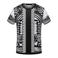 Wholesale Famous T Shirts Brands - 2018 arrive famous spring Summer designer luxury Brand tshirt medusa head grid patchwork color Men casual women t-shirt shirt tee top