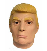 kostüm donald großhandel-Cos Donald Trump Maske Latex Kopfbedeckung Durchführung Requisiten Maskerade Präsidenten Kostüm Masken Halloween Party Decor Ornament 18yc jj
