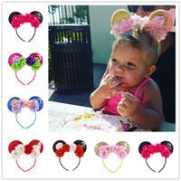 Wholesale wholesale children wears - Baby Girls Big Flower Bow Hairbands Hair Sticks Girls kids animal ears Children Hair Accessories Birthday Party Wear Hair Sticks KFG12
