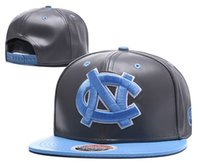 gorras ncaa gorras al por mayor-Venta al por mayor 2017 Nueva Universidad de Carolina del Norte NCAA Snapback Hats Brand USA College Cartoon Logo Caps ajustables Moda Hip Hop Chapeaus