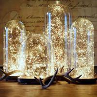 fee glasflasche großhandel-LED Lichter Dekor Hochzeit Dekoration LED wachsen Licht Corker String Lichterketten für Glass Craft Bottle Strips für Weihnachten Halloween Decorat