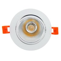 Wholesale 7w Cob Led Driver - Wholesale- New arrival Super Gorgeous non-Dimmable LED COB Downlight 7W 9W 12W 15W 18W Recessed Ceiling Lamp Home light with LED Driver