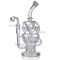 Wholesale bong honeycomb vortex resale online - Recycler Bongs Honeycomb Bong Cyclone Inline Oil Rig Fab Egg Smoking Pipe Percolator Dab Rigs Vortex Water Pipes with Quartz Nail