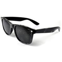 усталостные очки оптовых-Мода стиль унисекс очки анти-усталость Stenopeic пинхол очки зрение уход улучшить зрение очки Бесплатная доставка DHL HH7-890