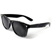 melhorar a visão venda por atacado-Moda Estilo Unisex Óculos Anti-fadiga Stenopeic Pinhole Eyewear Visão Melhorar Visão Cuidados De Óculos De Sol Livre DHL HH7-890