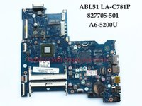 Wholesale Hp Motherboard Support - Wholesale High quality Laptop Motherboard for HP 15-AF Series ABL51 LA-C781P 827705-501 A6-5200U DDR3L 100% Fully Tested