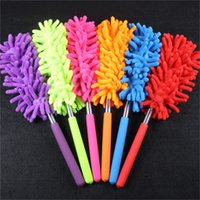 Wholesale car clean brush duster resale online - Sleeve Head Duster Head Mini Telescopic Chenille Microfiber Cloth Head Dusters Household Dusting Brush Cars Cleaning Tool yjE1