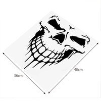Wholesale mirror decoration stickers for sale - Group buy 40 CM Big Size Skull Head Car Stickers Accessories Vinyl Funny Decoration Cartoon Auto Truck SUV Reflective Decal and Stickers