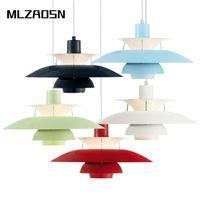 Wholesale Pendant Light Modern Small - MLZAOSN Nordic Small Umbrella Aluminum Pendant Light Personalized Quality PH5 Denmark Aluminum Dining Room Study Droplight