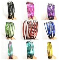 Wholesale Cool Metal Toys - Colorful Flow Rings Spinner Toroflux Stainless Metal Flow Rings Arm Interactive Cool Toys Kinetic Bracelet Science Educational Tool AAA75